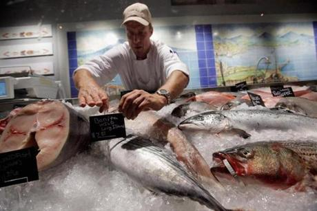The fish counter at the Manhattan Eataly, a partnership that includes Mario Batali, Lidia Bastianich, and Joe Bastianich.